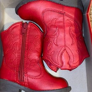Red toddler cowgirl boots